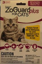 ZoGuard Plus Flea and Tick Drops for Cats & Kittens 3 Month supply, Over 1.5 lbs