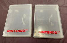 Official Nintendo 64 N64 Authentic OEM Plastic Clamshell Game Case Lot of 2