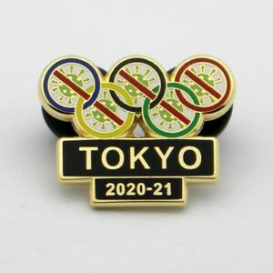 TOKYO 2020 JAPAN OLYMPIC GAMES PIN  let the vaccine work and games begin 2021
