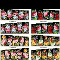Nail Art Sticker Water Decals Transfer Wraps Stickers Dark Flowers Floral Roses