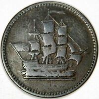 1814 CANADA COPPER WELLINGTON WATERLOO HALF PENNY TOKEN - PRICED RIGHT!!!