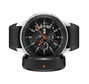 New Samsung Galaxy Watch SM-R800 46mm Silver Case Classic Onyx Black Band Belt