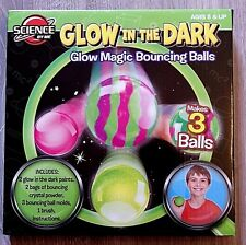 GLOW IN THE DARK GLOW MAGIC BOUNCING BALLS SCIENCE BY ME AGE 8+ BRAND NEW!