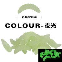 100pcs Luminous Fishing Soft Worms Artificial Lure Crankbaits Soft Plastic Lures