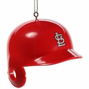 St. Louis Cardinals Baseball Bat Helmet Plastic Christmas Tree Holiday Ornament