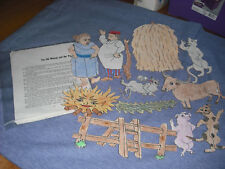 Flannel Story, The old women and her pig 13 felt pieces