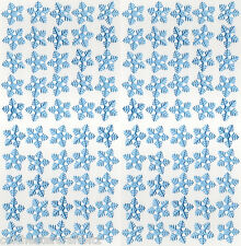 100 Light Blue Fabric Snowflakes - 33mm Approx.