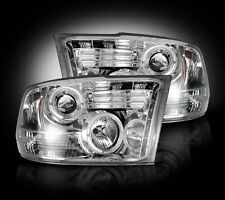 2009-2013 Dodge Ram Projector Headlights Clear Lens w/ LED Halos & DRLs - LH/RH