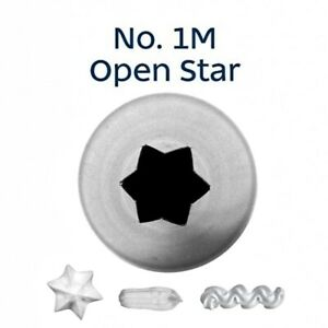 Loyal Open Star No.M1 Piping Nozzle Tip Tube Cake Decorating Stainless Steel