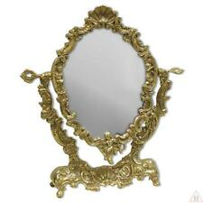 Cosmetic Mirror ROTATABLE TABLE MIRROR BRASS MAKE-UP MIRROR TILT MIRROR