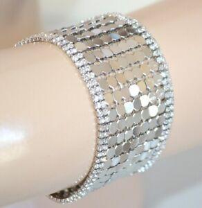 SILVER woman BRACELET elegant rhinestone crystals for ceremony party pulsera E08