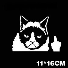 Sale! Funny Grumpy Cat For JDM Auto Car/Bumper/Window Vinyl Decal Sticker Decals