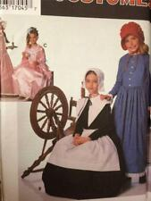 Simplicity Sewing Pattern 9708 Childs Girls Historical Puritan Costume Size S-l