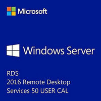 MICROSOFT WINDOWS SERVER 2016 REMOTE DESKTOP SERVICES 50 USER CAL ESD FATTURA