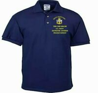 TIN CAN SAILOR *NAVY DESTROYERS NAVY ANCHOR EMBROIDERED LIGHT WEIGHT POLO SHIRT