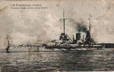 18274/ Foto AK, Panzerkreuzer Goeben, Marine Schiffspost, 1916