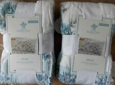 (2) Simply Shabby Chic Dascha Patchwork Blue Floral Standard Pillow Shams ~ NEW