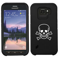 For Samsung Galaxy S6 S7 Active Shockproof Impact Hard Case Skull Crossbones
