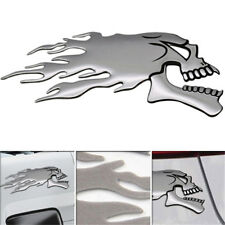 3D Stickers Ghost Head Pattern Motorcycle Sticker Badge Emblem Car Decals KI