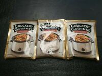 Crockery Gourmet Seasoning Mix For Pork  Three (3) Sachets New
