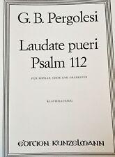 Pergolesi - Laudate pueri Psalm 112 - für Sopran,Chor,Orchester - Klavierauszug
