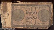 50 Pesetas 1936 Burgos  @ Usado @