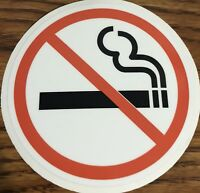 NO SMOKING Sign Vinyl Decal Sticker Circle- Door Window Wall 3M HIGH QUALITY