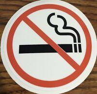 NO SMOKING Sign Vinyl Decal Sticker Circle- Door Window Wall 3M HIGH QUALITY