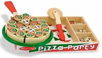 Melissa & Doug WOODEN PIZZA SET PLAY FOOD Role Play/Toy/Gift Toddler/Child BN