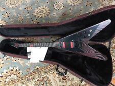 2002 Gibson Voodoo Flying V with Original Hard Case / Papers MINT - Black Red
