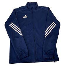 Adidas Climalite Blue Long Sleeve Full Zip Up Track Jacket - Mens Medium