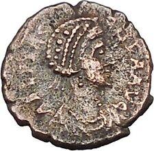 AELIA FLACILLA Ancient Roman Coin VICTORY Cult CHI-RHO Christ monogram  i46513