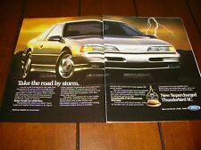 1989 FORD THUNDERBIRD SC T BIRD ***ORIGINAL 2 PAGE AD***