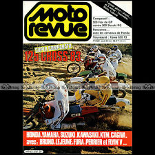 MOTO REVUE N°2582-b ★ Poster FRANCO UNCINI ★ KAWASAKI Z 650 SUZUKI RG 500 1982