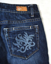 PAIGE Laurel Canyon Midnight Rocket Blue Jeans 7 Girl