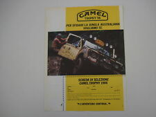 advertising Pubblicità 1985 CAMEL TROPHY LAND ROVER