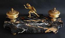 Edouard Drouot, Double Encrier, Au Guerrier, Bronze Et Marbre, 1930