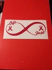 Breast Cancer Pink Infinity Vinyl Die Cut Decal,window,car,truck,laptop,iPad