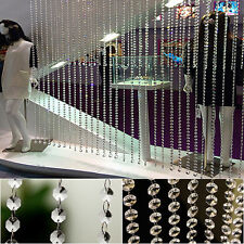 33ft/10M Wedding DIY Diamond Acrylic Crystal Beads Curtain Strand Garland Decors