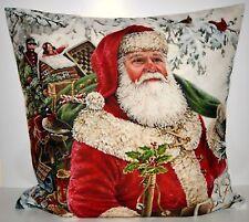 Weihnachtsmann 40x40cm Kissenhüllen Kissenbezüge Sofakissen Dekohülle W15-370-2-