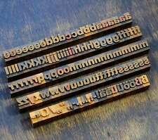 a-z Alphabet 18mm Plakatlettern Lettern Buchstabenstempel Typo Buchstaben rar
