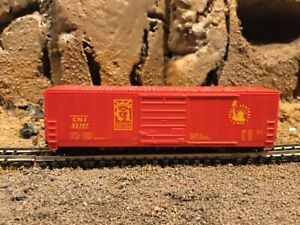 N scale Life like 50' single door boxcar CNJ CENTRAL NEW JERSEY mtl cplrs