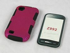 Mesh Protector Hard Cover Case for AT&T Avail 2 / ZTE Avail 2 Z992 Phone Red