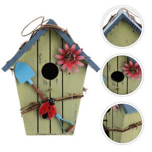 1 pc Wooden Bird Nest Garden Decoration  Art Crafts Bird House