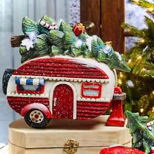 Vintage Holiday Led Lighted Retro Camper • Rustic/Country/Unique Christmas Decor