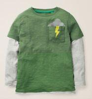 Mini Boden boys tshirt top pocket rosemary green age 2 3 4 5 6 9 10 15 16 years