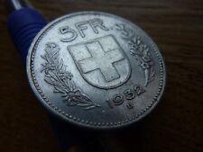 1932 Switzerland Silver 5 Francs/Franken (refB1)