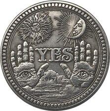 Morgan Dollar Coin Hobo Antique USA Nickel Design YES/NO 137 NEW Coin