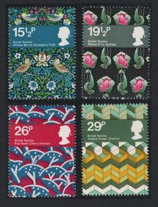 Great Britain British Textiles 4v 1982 MNH SG#1192-1195 SC#996-999