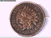 1863 Indian Head Cent PCGS Genuine Env. Damage - XF Details 30893585 Video
